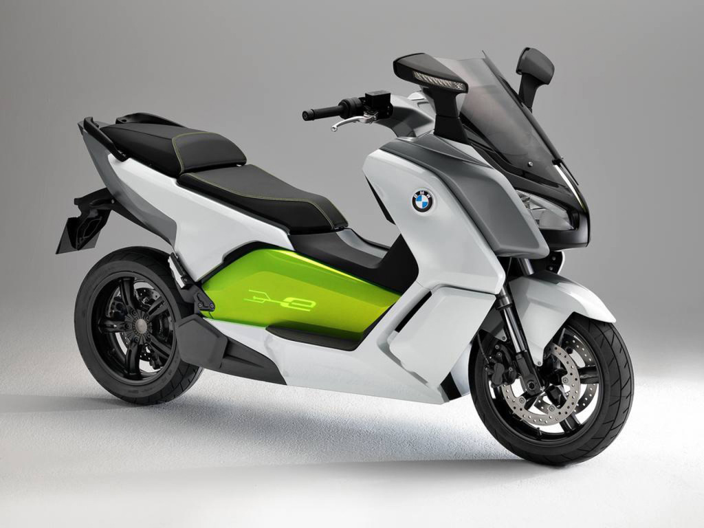 BMW C-Evolution electric scooter front three quarter view