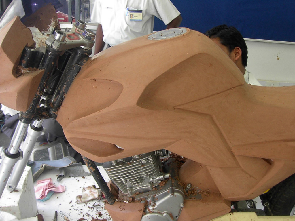 TVS Chicane concept clay model development