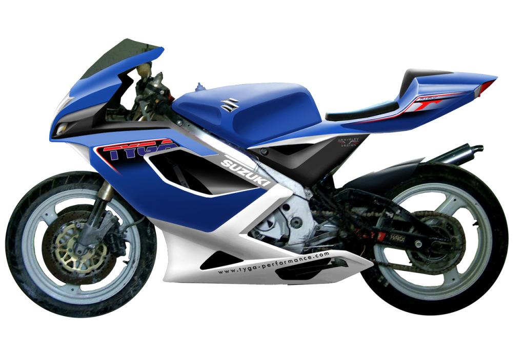 Tyga Performance Suzuki RGV250 bodykit rendering